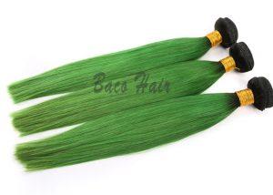 green weave hair